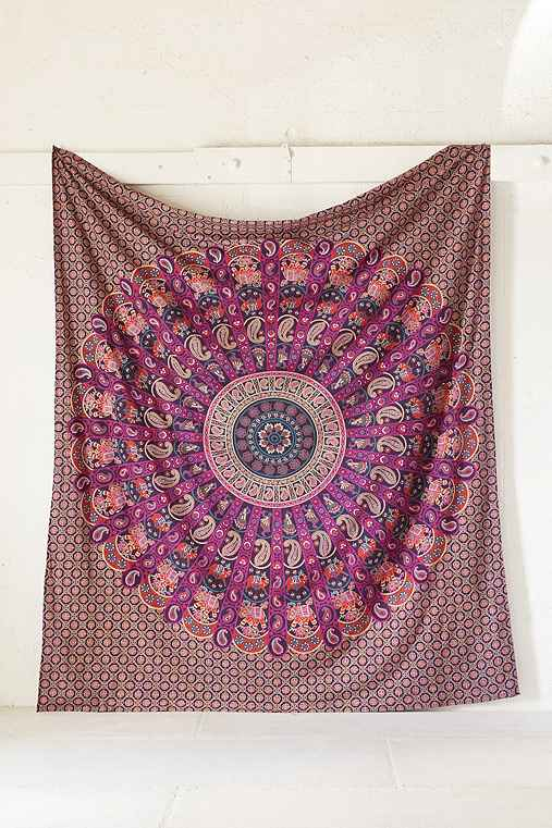 Magical Thinking Jessa Scalloped Medallion Tapestry,PURPLE,ONE SIZE