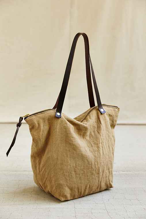 Thread & Paper Dyed Linen Tote Bag