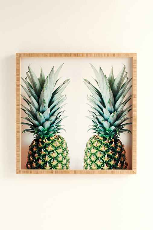 Chelsea Victoria For DENY How About Those Pineapples Framed Wall Art,GREEN,12