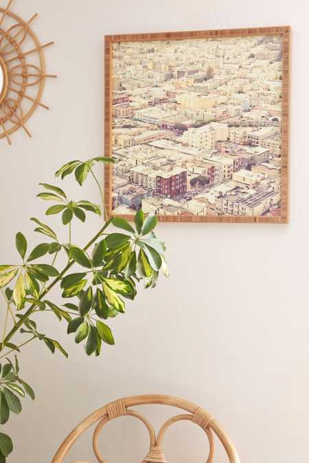 Shannon Clark For DENY San Fran Roof Tops Framed Wall Art