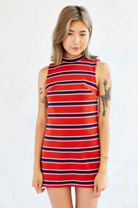 Cooperative Waldo Mock-Neck Ponte Dress