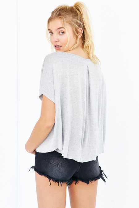 Truly Madly Deeply Back-Pleat Tee