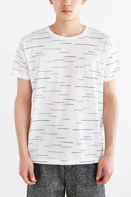 Cheap Monday Broken Stripe Crew Neck Tee