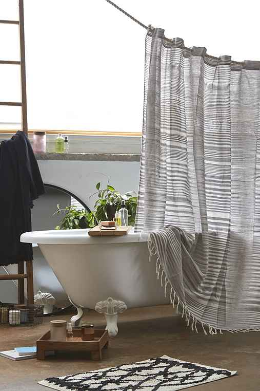 4040 Locust Wyatt Space Dyed Shower Curtain,GREY,72X72