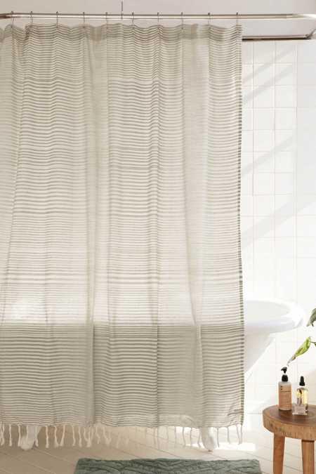 ... Wyatt Space Dyed Shower Curtain Plum & Bow Pom Pom Dot Shower Curtain