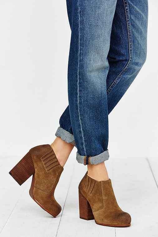 Jeffrey Campbell Yorktown Distressed Suede Ankle Boot,TAUPE,9