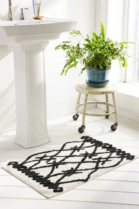 Magical Thinking Black + White Berber Bath Mat