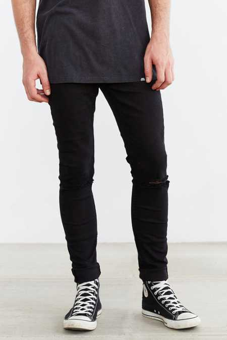 Cheap Monday Tight Ripped Black Skinny Jean