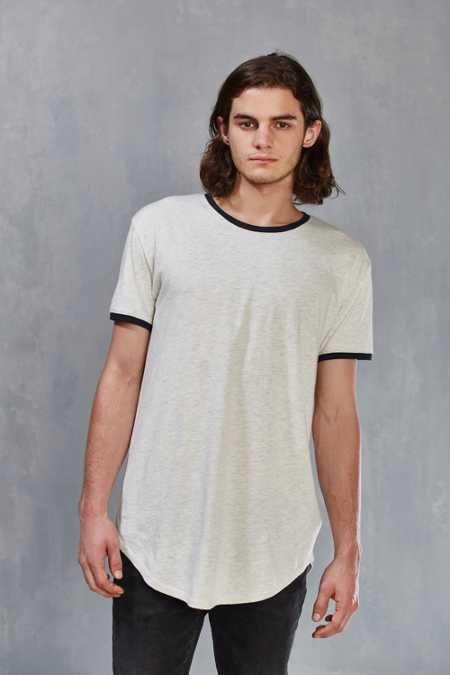 Feathers Long + Loose Ringer Scoopneck Tee