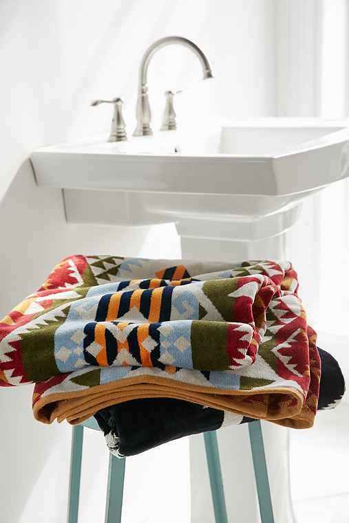 Pendleton Journey West Oversized Jacquard Towel,YELLOW,ONE SIZE