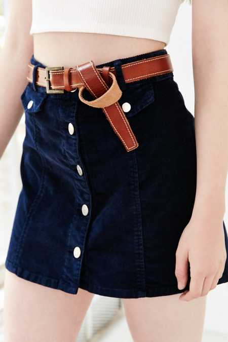 Kimchi Blue Knotted Leather Belt