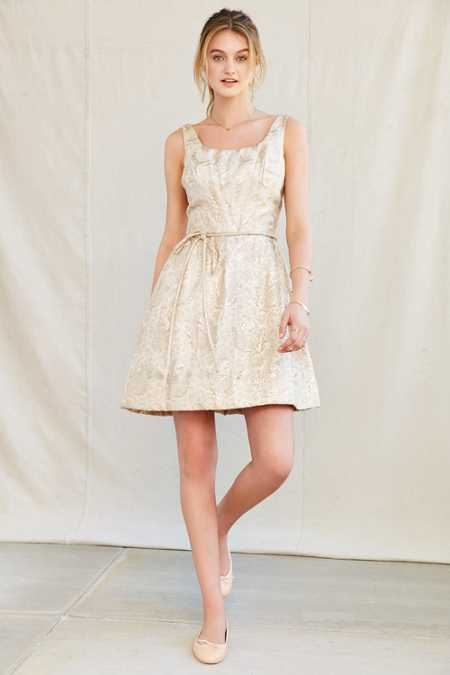 Vintage Brocade Pocket Party Dress
