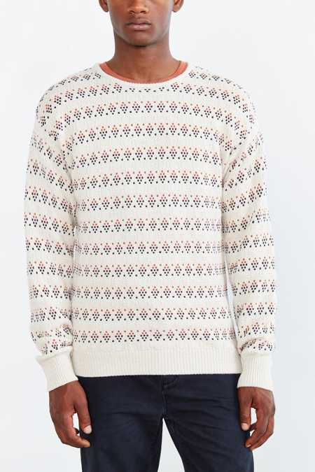 Native Youth Geo Stitch Sweater