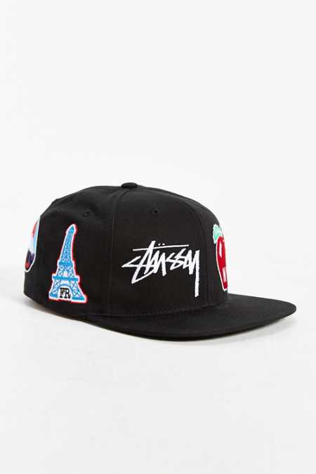 Stussy World Tour Icons Snapback Hat
