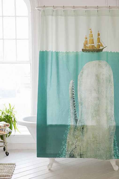 terry fan the whale shower curtain urban outfitters. Black Bedroom Furniture Sets. Home Design Ideas