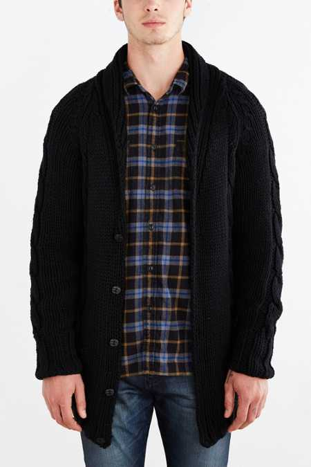 Neuw Oversized Cable Knit Cardigan