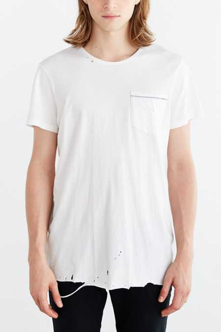 Neuw Destroyed Enkel Pocket Tee