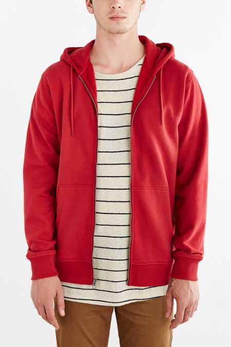 BDG Fleece Zip Hooded Sweatshirt
