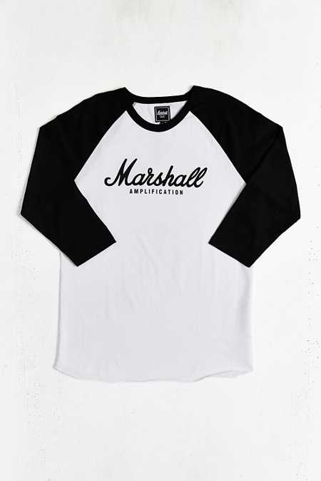 Marshall Amplification Script Raglan Tee