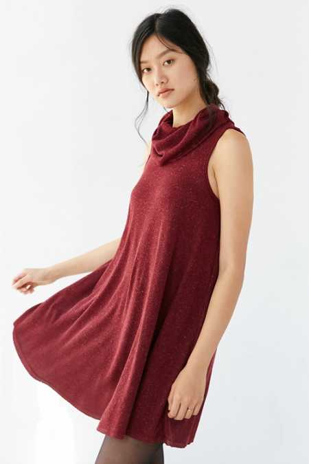 BDG Cowl-Neck Swing Dress