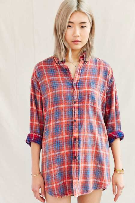 Urban Renewal Well Worn Vintage Flannel Shirt