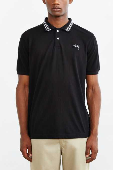 Stussy Cube Short-Sleeve Polo Shirt