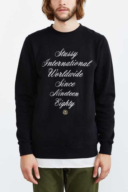 Stussy International Embroidered Script Sweatshirt