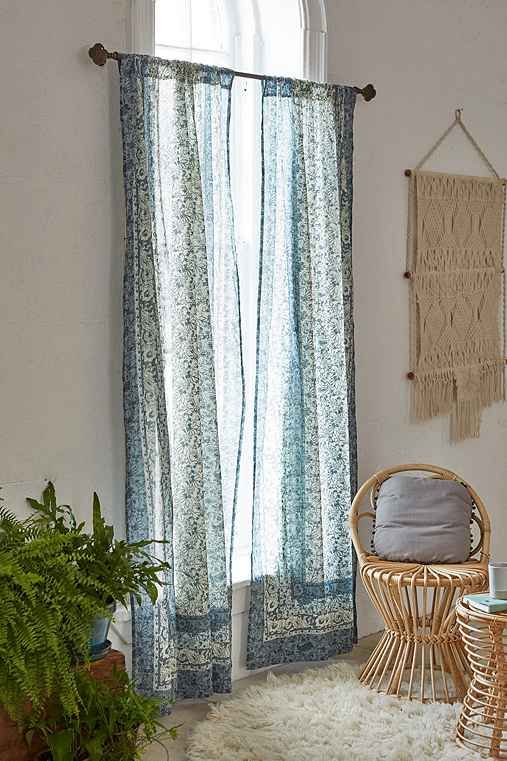 Plum & Bow Melody Curtain,TEAL,52X84