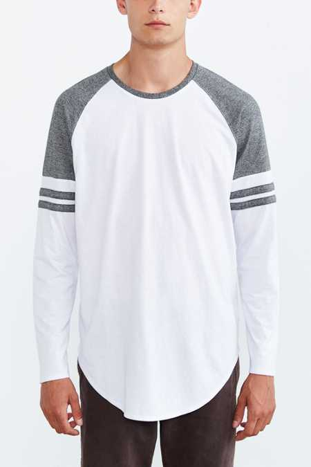 Feathers Athletic Curved Hem Long-Sleeve Tee
