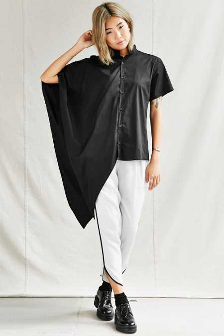 Urban Renewal Remade Asymmetrical Oxford Top
