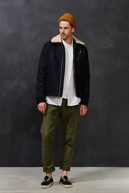 Wood Wood Sherpa Collar Flight Jacket