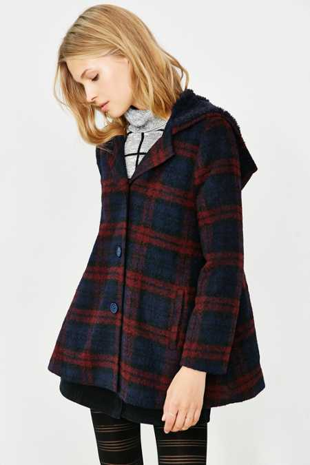BB Dakota Kellen Plaid Sherpa-Hood Jacket