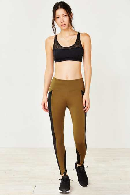 Without Walls Striped Mesh Etta Ankle Legging