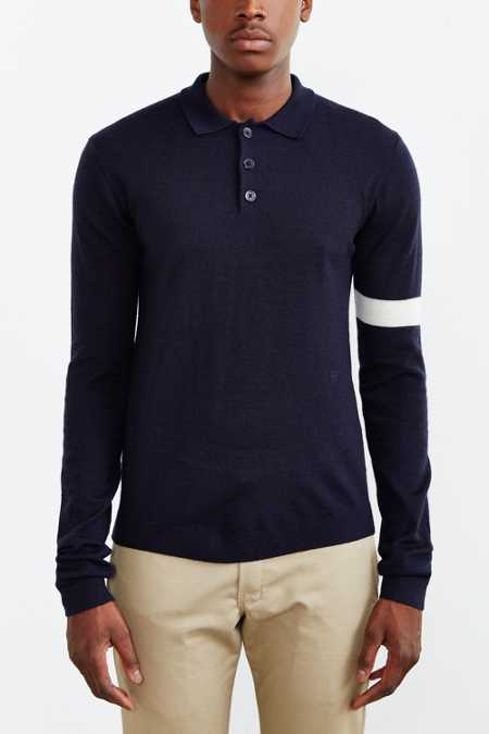 Wood Wood Mark Polo Sweater