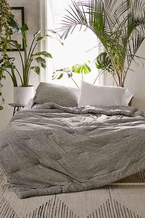 4040 Locust Spacedye Jersey Comforter,GREY,FULL/QUEEN