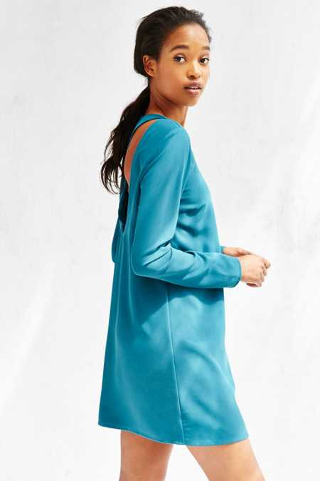 Kimchi Blue Woven Cut-Out Back Frock Dress