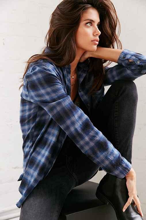 BDG Olly Flannel Shirt,BLUE MULTI,M
