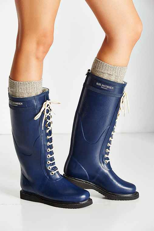 Ilse Jacobsen Rub 1 Warm Lining Rain Boot,NAVY,US 11/EU 41