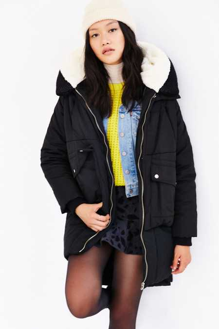 UNIF X UO Puffy Utility Zip Puffer Coat