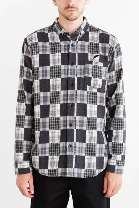 Publish Norman Patchwork Flannel Button-Down Shirt