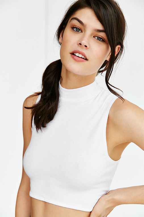 Truly Madly Deeply Mocturnal Cropped Tank Top,WHITE,S