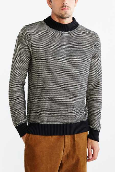 CPO Wide Collar Mock-Neck Sweater