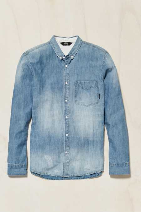 Neuw Bob Distressed Denim Button-Down Shirt
