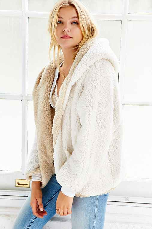 Ecote Fuzzy Reversible Jacket,CREAM,XS/S