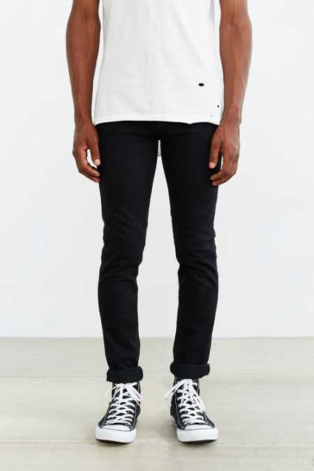 Dr. Denim Snap Old Black Skinny Jean