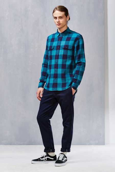 Stapleford Herringbone Buffalo Plaid Flannel Workshirt