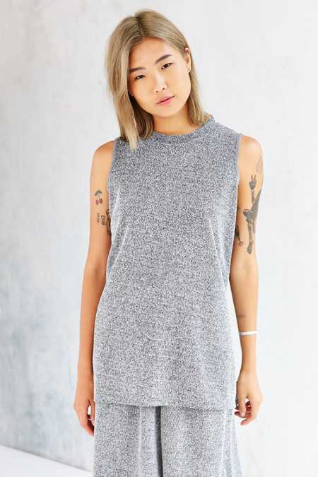 Native Youth Concrete Jacquard Mock-Neck Tunic Top