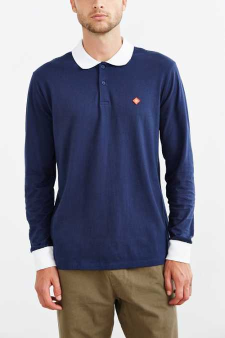 OBEY Club Long-Sleeve Polo Shirt