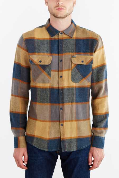 Brixton Bowery Flannel Button-Down Shirt