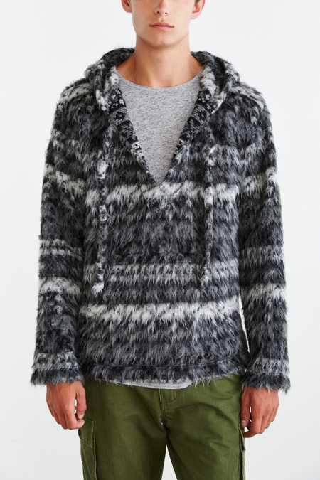 Monitaly Mohair Baja Hooded Sweater